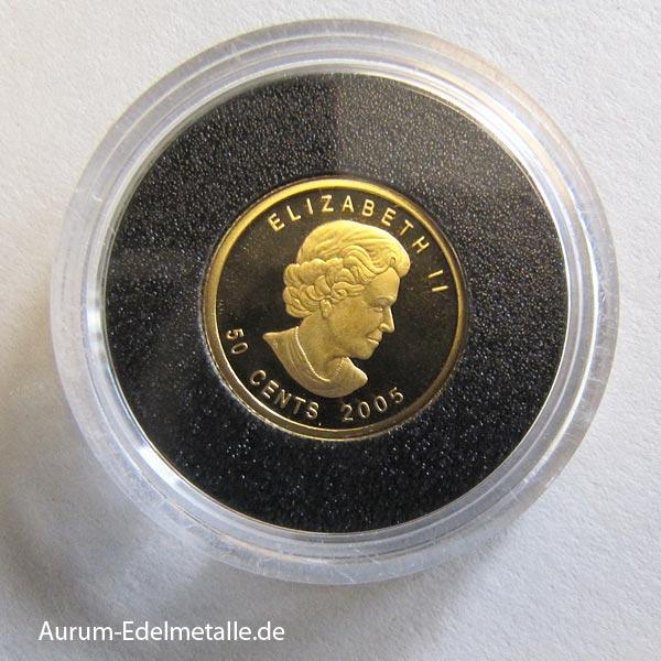 Goldmünze 1_25 oz Kanu 2005