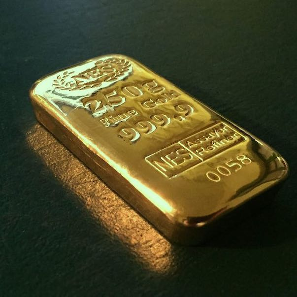 250g Goldbarren 9999 Norddeutsche