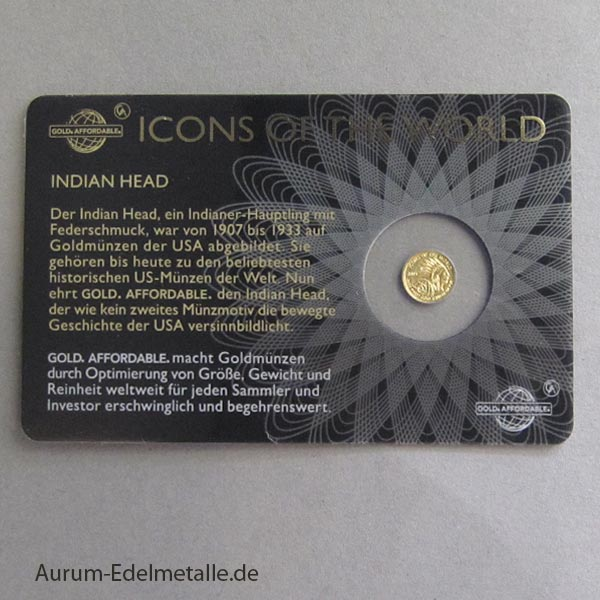 Ruanda Icons of the World 1_200 oz Gold Indian Head 2015