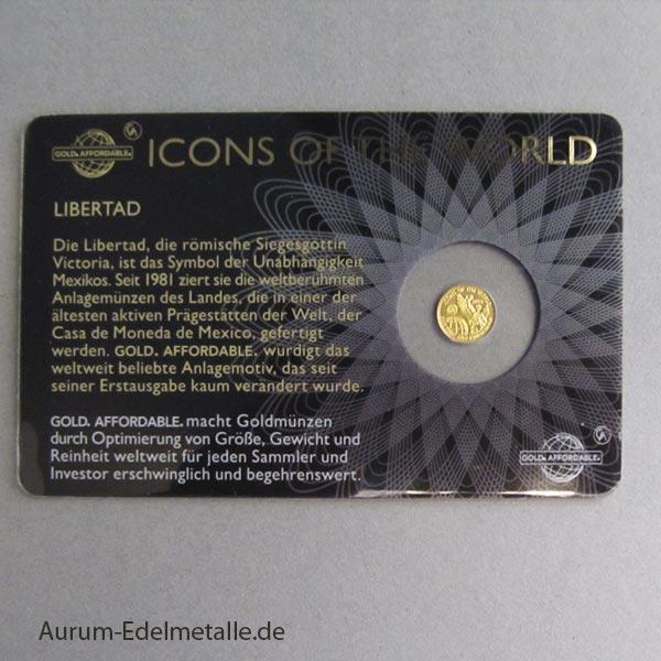 Ruanda Icons of the World 1_200 oz Gold Libertad 2015
