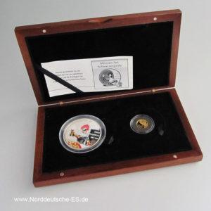 Schweizergarde 2er Münz-Set 2006 Silbermünze und Goldmünze