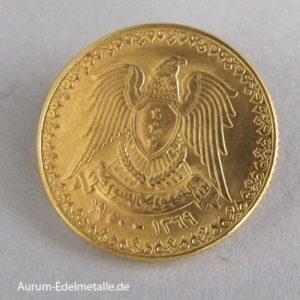 Syrien 1 Pound Goldmünze 1950