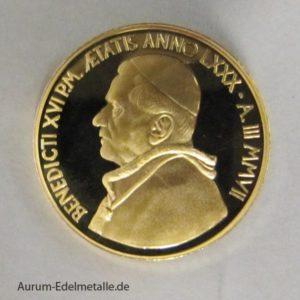 Vatikan 20 Euro Goldmünze 2007 Eucharistie
