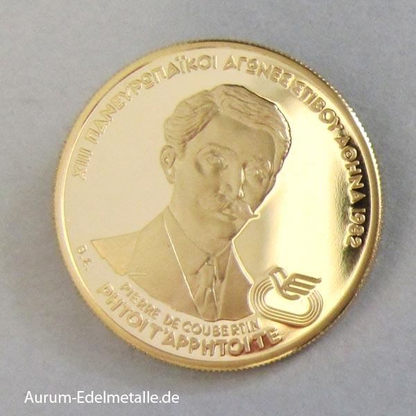 5000 Drachmen 1982 Pierre de Coubertin