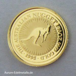 Feingoldmünzen Australian Nugget Kanagroo 1995