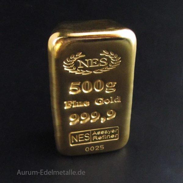 Goldbarren 500g 999,9 NES