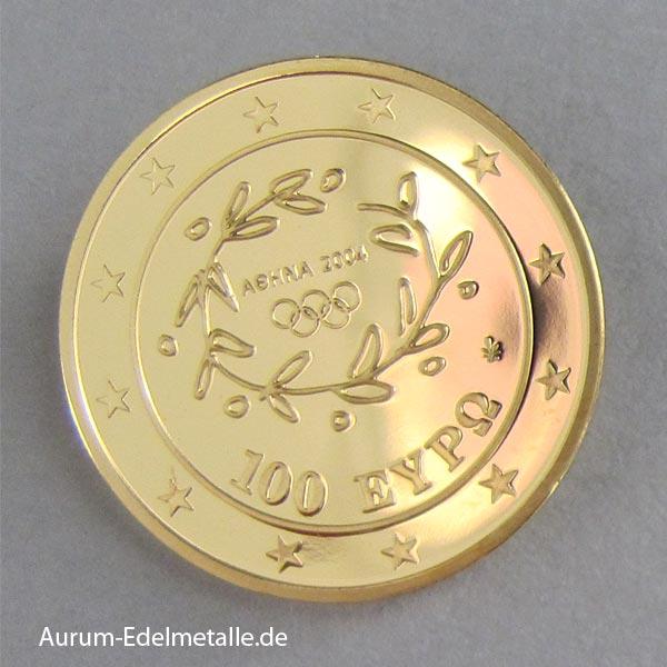 Griechenland 100 Euro Goldmünze 2004 Palast von Knossos