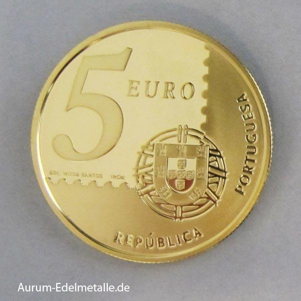 Portugal 5 Euro Goldmünze 2003