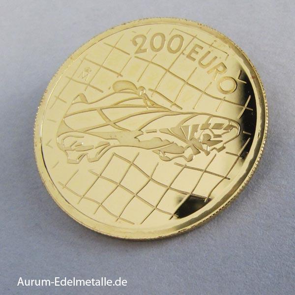 Spanien 200 Euro Goldmünze Fußball WM 2002