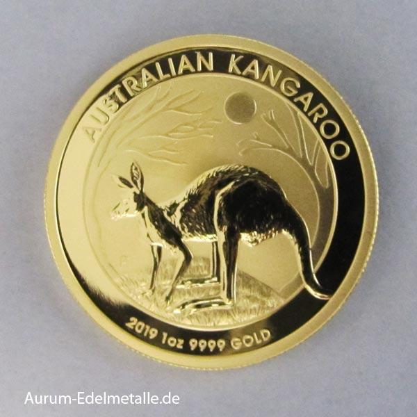 Australien 1 oz Kangaroo Nugget Goldmünze 2019