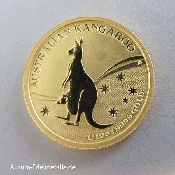 Australien 1_10 Oz Nugget Kangaroo Goldmünze 2009