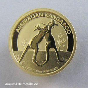 Australien Kangaroo 1_10 Goldmünze 2010