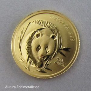 China Panda 20 Yuan 1_20 oz Goldmünze 2003