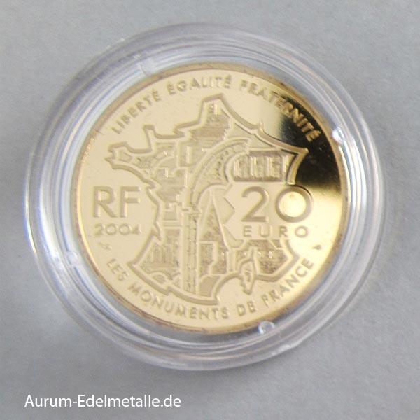 Goldmünze 2004 Avignon Papstpalast