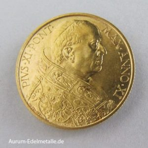 Italien 100 Lire Goldmünze Vatikan Papst Pius XI