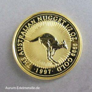 Australien Kangaroo Nugget 1_2 oz Gold 1997