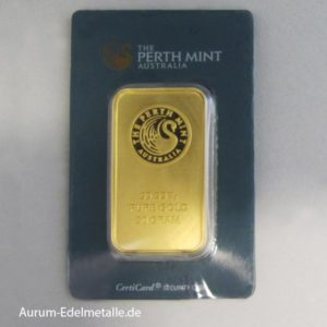 Goldbarren 50 g Perth Mint Kangaroo