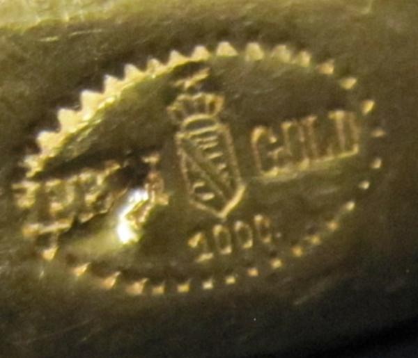 Königshaus Sachsen Goldbarren 1000/1000