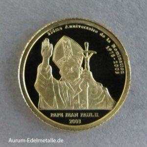 Kongo 20 Francs Papst Johannes Paul II
