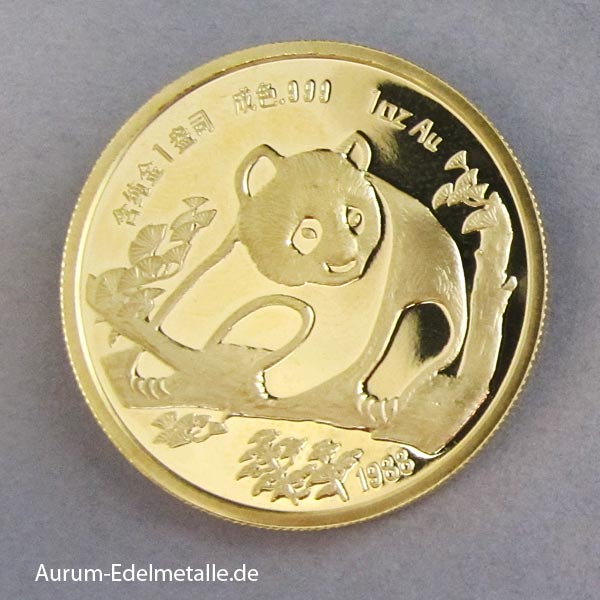 Panda 1 oz Gold Munich International Coins Fair 1988