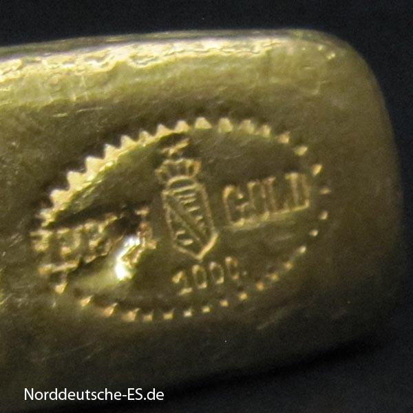 Goldbarren historisch Wappen Sachsen Route