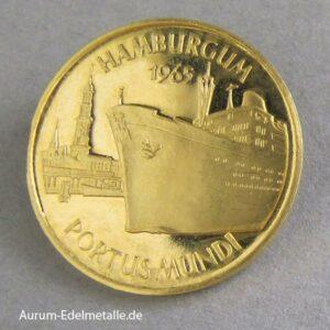 Aureus Magnus 1 Dukat Gold Hamburgum 1965 Schiff