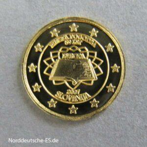 Cook Islands 1 Dollar Sondermünze Slowenien 2007