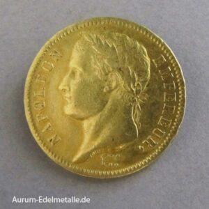 Frankreich 40 Francs Gold Napoleon I Paris 1812 A