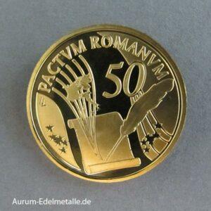 Belgien 50 Euro Gold 2007 Römische Verträge
