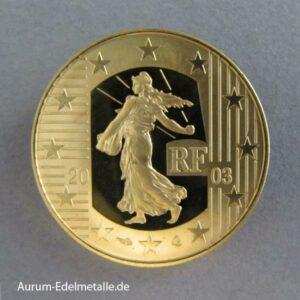 Frankreich 10 Euro 2003 Goldmünze La Semeuse Die Säerin PP