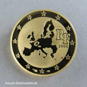 Frankreich 10 Euro 2008 Goldmünze 50 Jahre Europäische Parlament