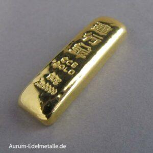 Goldbarren 50g CCB China Construction Bank Feingold 9999