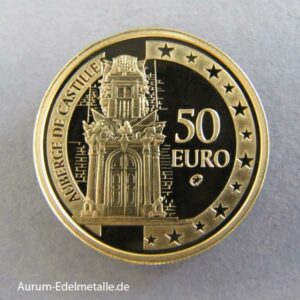 Malta 50 Euro Gold Auberge de Castille 2008