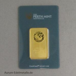 Goldbarren 1 oz Perth Mint Kangaroo