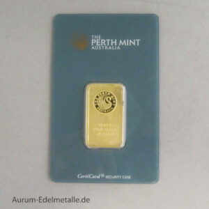 Goldbarren 20 g Perth Mint Kangaroo