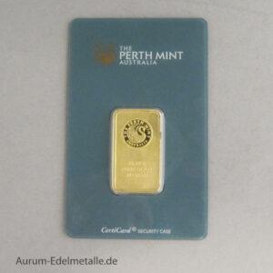 Goldbarren 20 g Perth Mint Kangaroo