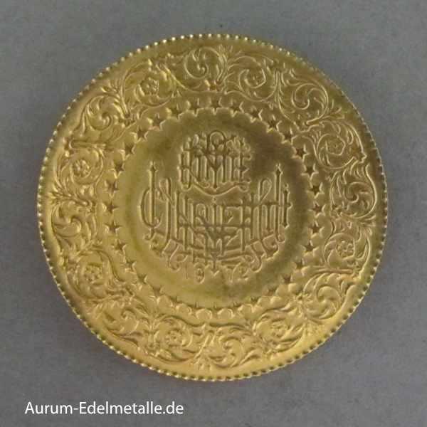 Türkei 100 Piaster Kurush Goldmünze Atatürk Piaster