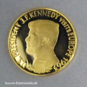 Aureus Magnus 2,5 Dukat John F Kennedy Visits Europe 1963
