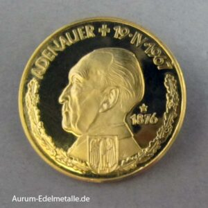 Aureus Magnus 2,5 Dukat Adenauer 1967