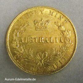Australien One Sovereign Victoria 1864 Sydney Mint