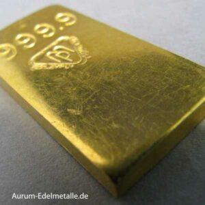 Goldbarren 50g 9999 Métaux Précieux Kratzer
