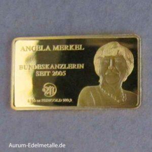 Goldbarren 1_100 Unze Angela Merkel Bundeskanzlerin