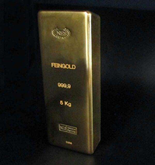 Goldbarren 5kg Feingold 9999 NES 2
