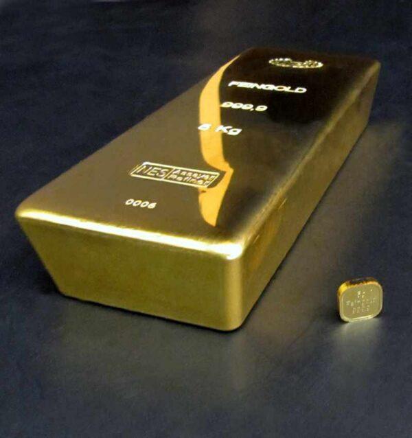 Goldbarren 5kg Feingold 9999 NES