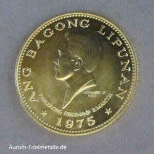 Philippinen 1000 Piso Goldmünze Ferdinand Marcos