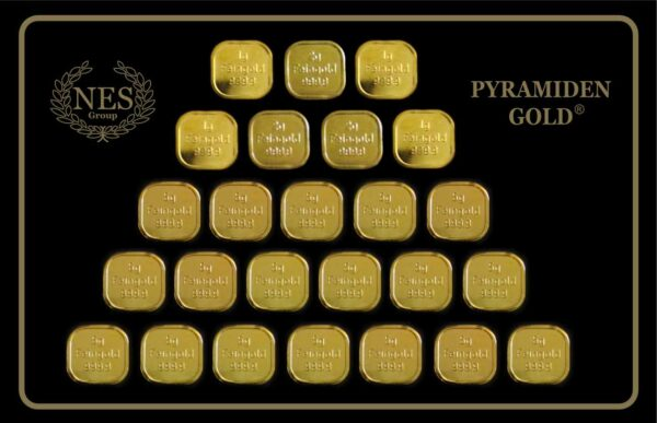 Pyramidengold 100g Tafel Feingold 999,9