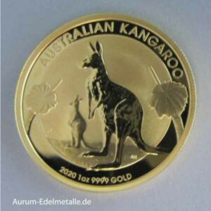 Kangaroo 1 oz High Relief Goldmünze 2020