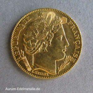 10 Francs Ceres 1850-1899