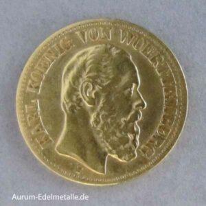 10 Mark Karl Württemberg 1874-1888