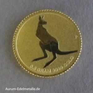 Goldmünze 0_5g Kangaroo 2014